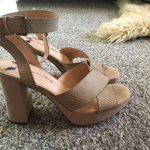 Taupe snakeskin heels size 10